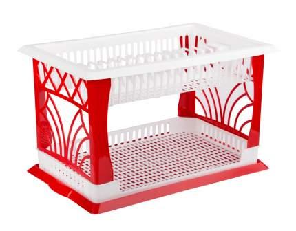 Сушилка для посуды Альтернатива Мечта хозяйки М1173 Белый, красный
