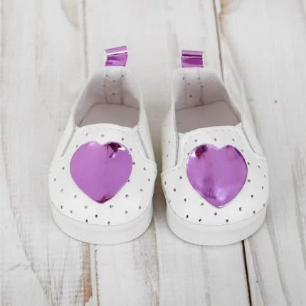 """Мокасины для куклы """"Сердечко"""", длина стопы 7 см, цвет фиолетовый Sima-Land"""