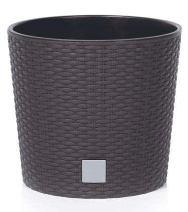 Кашпо для цветов Prosperplast 35/37,65 л Rato Round, венге, 2 пр, DRTUS400L-440U