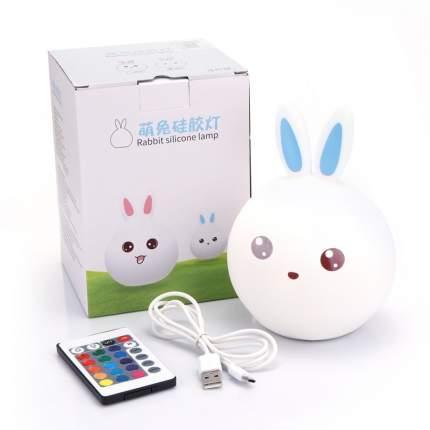 Силиконовый LED ночник (зайчик голубой с пультом) Rabbit Silicone Lamp RSL001