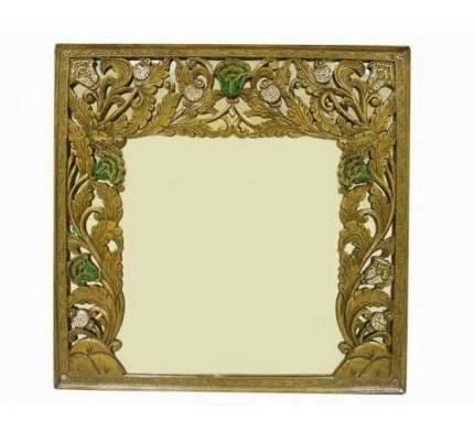 """Зеркало в раме """"Цветы"""", Восточная Лавка, коричневый 536335"""
