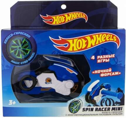 Мотоцикл с диском 1TOY Spin Racer Hot Wheels Ночной Форсаж, 12 см