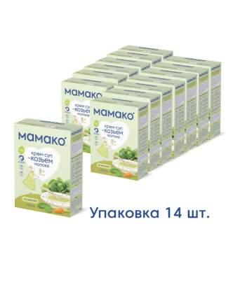 Крем-суп MAMAKO® из шпината быстрорастворимый на козьем молоке для детей с 8 м.,уп.14 шт.