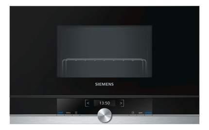 Встраиваемая микроволновая печь Siemens BE634RGS1 Black/Silver