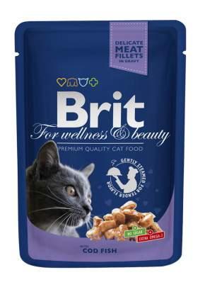 Влажный корм для кошек Brit Premium, рыба, 24шт, 100г