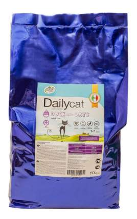 Сухой корм для кошек Dailycat Adult, утка и овес, 10кг