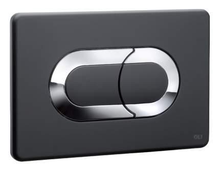Кнопка смыва OLI Salina черный/хром глянцевый (640097)