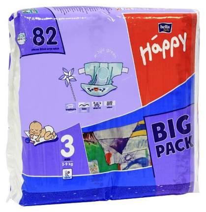 Подгузники Bella Baby Happy Midi 3 (5-9 кг), 82 шт.
