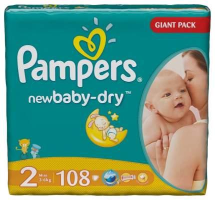 Подгузники для новорожденных Pampers New Baby Mini 2 (3-6 кг), 108 шт.