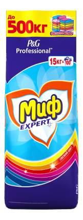 Порошок для стирки Миф expert свежий цвет для цветных тканей 15 кг