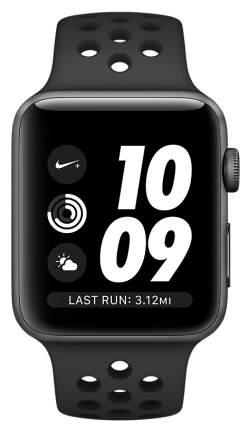 Смарт-часы Apple Watch Series 2 Nike+ 38mm Space Gray Al/Black (MQ162RU/A)