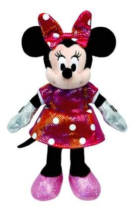 Мягкая игрушка TY Disney Sparkle Minnie в разноцветном платье, 20 см звуковые эффекты