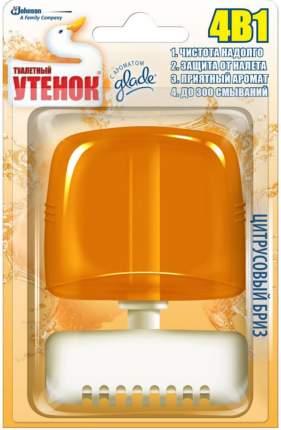 Подвесной блок для унитаза Туалетный Утенок цитрусовый бриз 4в1 55 мл