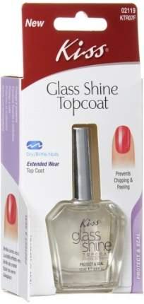 Фиксатор лака с эффект блеска KISS Glass Shine Topcoat, 15 мл
