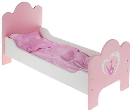 Кроватка деревянная Корона постелька в наборе 67114 для кукол Mary Poppins