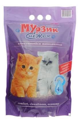 Комкующийся наполнитель для кошек Снежок цеолитовый, 2.25 кг, 4 л