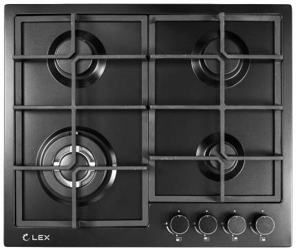 Встраиваемая варочная панель газовая LEX GVS 645 BL Matt Edition Black