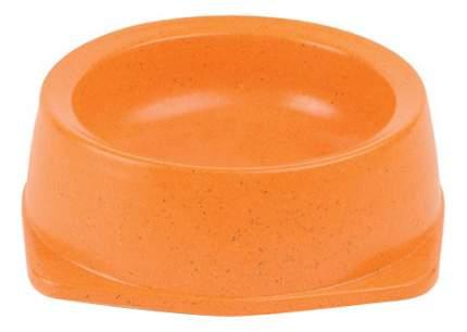 Одинарная миска для кошек Triol, пластик, дерево, оранжевый, 0.5 л