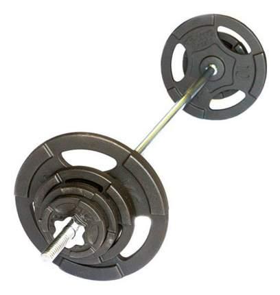 Штанга Рекорд, гриф прямой 220 см, 80 кг, 25 мм