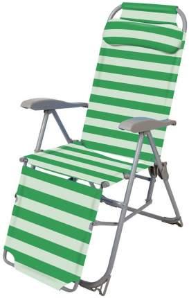 Кресло-шезлонг НИКА 3 с подножкой К3 Зелёный