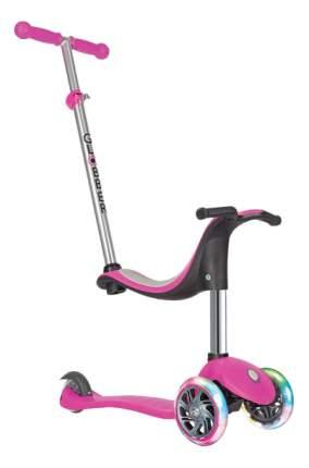 Велосипед Globber EVO 4 в 1 Lights со светодиодными колесами розовый