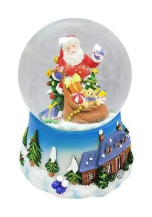 Снежный шар Новогодняя сказка Дед Мороз с подарками 10 см, мелодия 972480