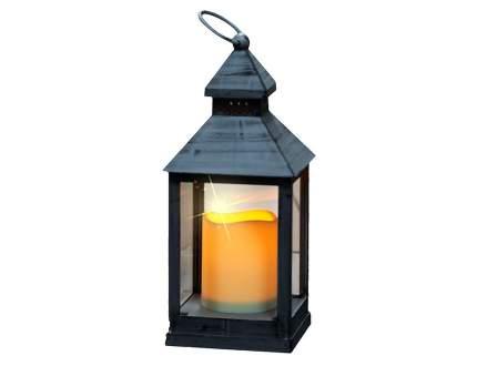 """Фонарь """"Оле Лукойе"""" со светодиодной свечой, 24*11*11 см, серый, батарейка 1020394"""