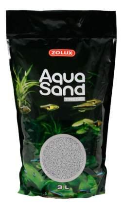 Кварцевый песок для аквариумов ZOLUX Aquasand Flint Grey, серый, 2,8 кг, 3 л