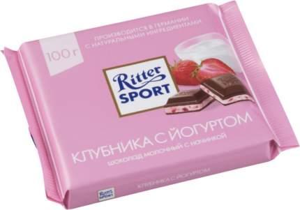 Шоколад молочный Ritter Sport с начинкой клубника с йогуртом 100 г