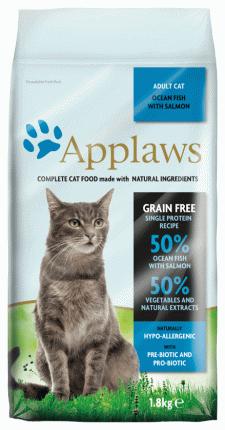 Сухой корм для кошек Applaws, беззерновой, океаническая рыба, 1,8кг