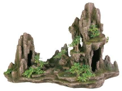 Грот для аквариума TRIXIE Rock Formation L Скалы с пещерой с растениями 45см, 21х43х27,5см