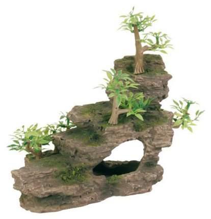 Грот для аквариума TRIXIE Rock Stairs Каменная лестница с растениями, 19,5х10х12 см