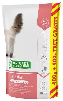 Сухой корм для кошек Nature's Protection Persian, персидская, домашняя птица, 0,8кг