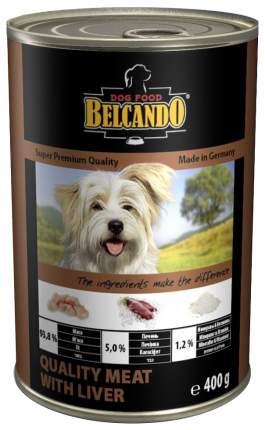 Консервы для собак BELCANDO Super Premium, отборное мясо с печенью, 400г