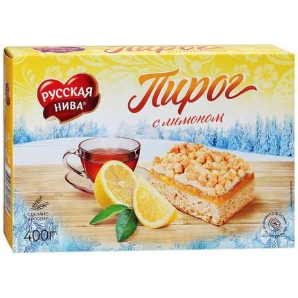 Пирог Русская Нива с лимоном 400 г