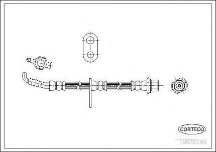 Шланг тормозной системы Corteco 19032289