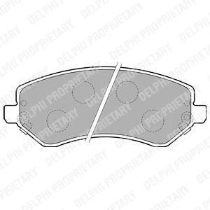Тормозные колодки дисковые Delphi LP1773