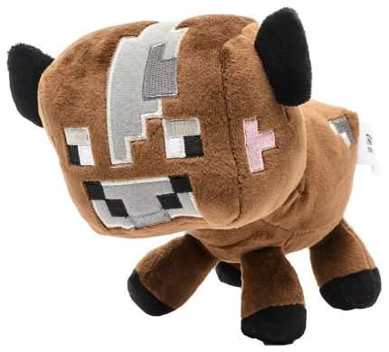 Мягкая игрушка Jazwares из плюша Детеныш коричневой грибной коровы Minecraft 18 см