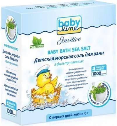 Соль для ванны детская Babyline Sensitive С целебными травами 1000 г