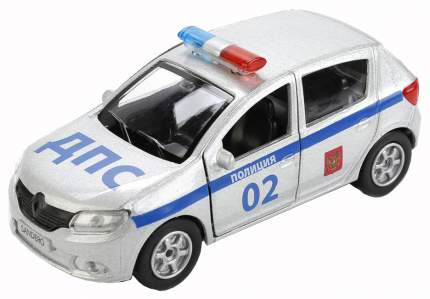 Машина спецслужбы Технопарк Полицейская машина Renault Sandero 12 см Полиция
