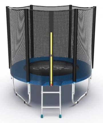 Батут Evo Fitness Jump External с сеткой и лестницей синий 183 см