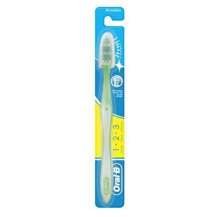 Зубная щетка Oral-B 1.Чистота 2.Свежесть 3.Сила 40 средняя 1шт