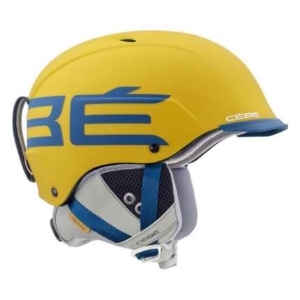 Горнолыжный шлем мужской Cebe Contest Visor Ultimate Mips 2019, желтый, L