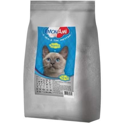 Сухой корм для кошек MonAmi, для нормальной физической активности, индейка, 10кг
