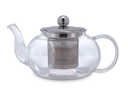 Чайник заварочный стеклянный Ромашка 800мл с ситом из нержавеющей стали