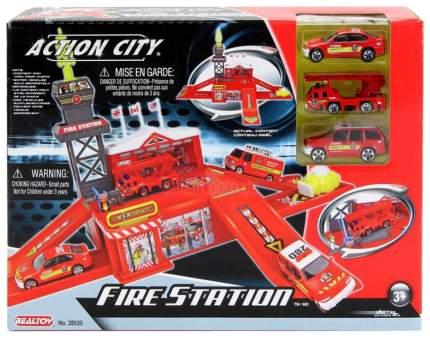 Игровой набор Action City - Пожарная станция, 3 машины  Realtoy