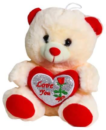 Мягкая игрушка Sima-Land Мишутка с сердцем 4471239 Красный