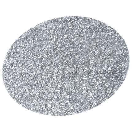 Салфетка под посуду круглая Peyer Paris, 38 см., цвет темно-серый
