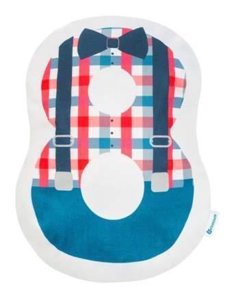 Подушка Крошка Я цифра 8, 40х29 см, синий, велюр