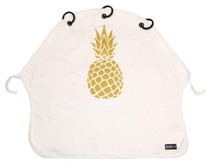 Накидка защитная на коляску и автокресло Pram Curtain Pineapple Gold White